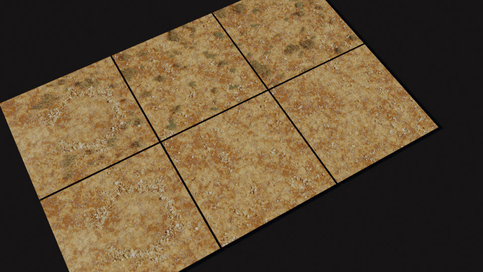 small huts ground tiles