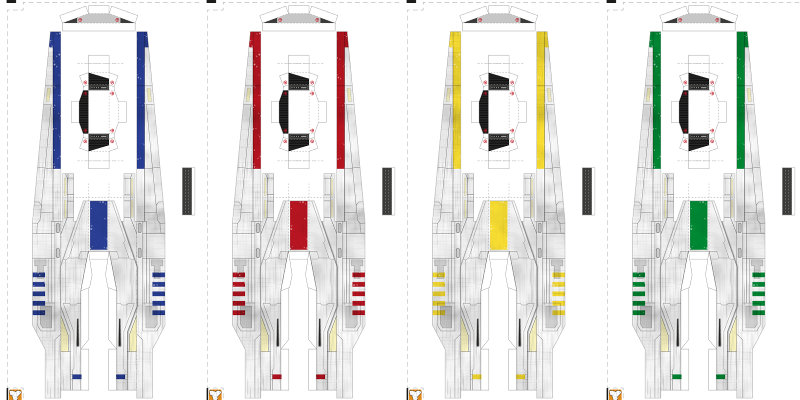 U-Wing paper model colors